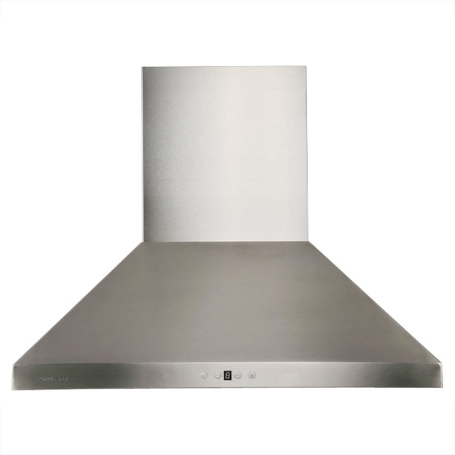 "Cavaliere Stainless Steel Wall Mount Range Hood, Brushed Stainless Steel, 42""."