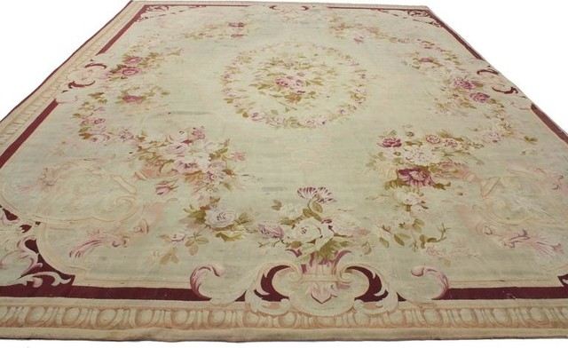 Consigned Antique French Aubusson Rug