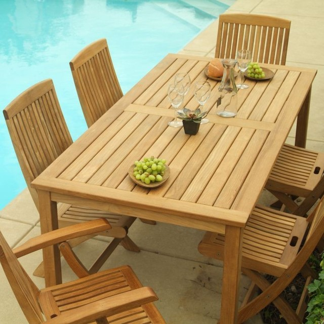 Traditional Outdoor Furniture Part - 35: Brunswick 6 Person Dining Set Traditional-outdoor-dining-sets