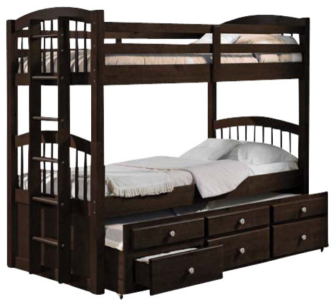 Micah Twin Twin Bunk Bed and Trundle With 3 Drawers