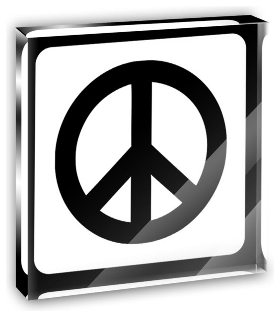 Peace Sign Mini Desk Plaque and Paperweight contemporary-decorative-accents