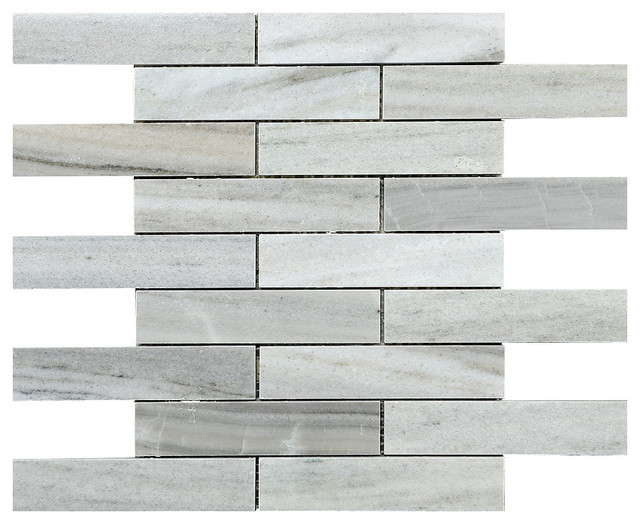 Gray White Brown Backsplash Mosaic Tile