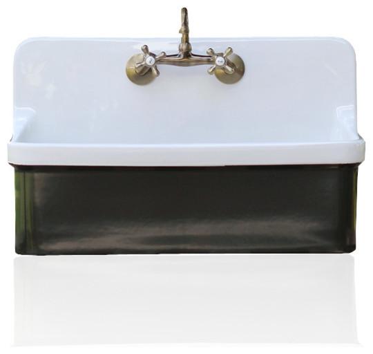 Good Studio Green Vintage Style High Back Farm Sink Kohler Gilford Apron Utility  Sink