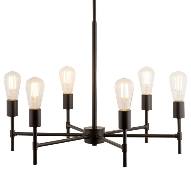Bella Chandelier With Bulb Industrial Chandeliers By