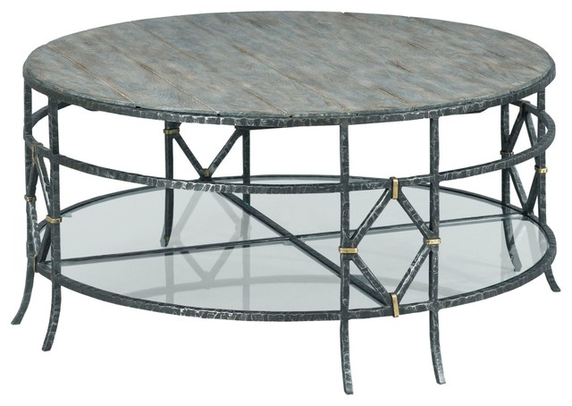 Kincaid Furniture Trails Monterey Round Coffee Table Industrial Coffee Tables By Unlimited Furniture Group