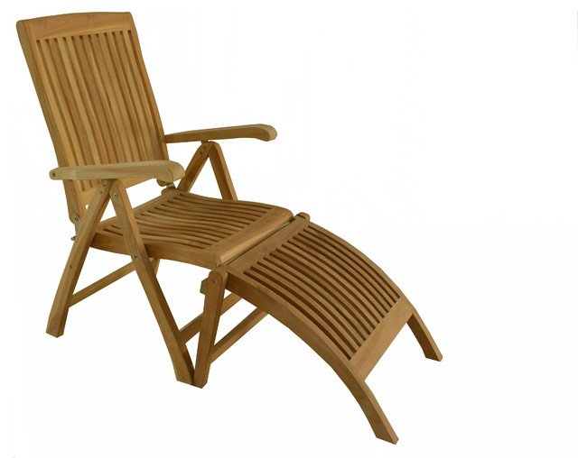 Teak Outdoor Dining Chair Marley Reclining Folding Arm Chair With