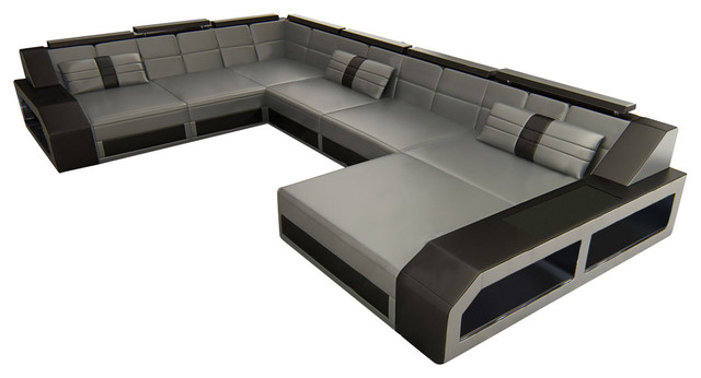 Sectional leather sofa Houston XL - Modern - Sectional Sofas - by ...