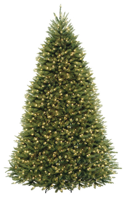 National Tree Company 9' Dunhill Fir Hinged Tree With 900 Clear Lights