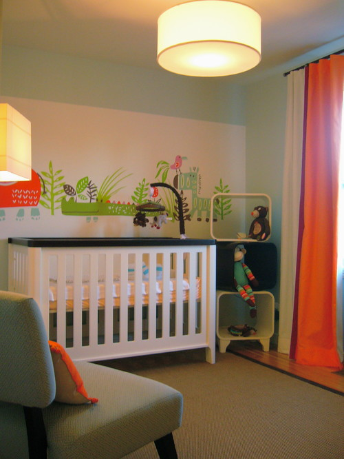 Baby boys bedroom eclectic kids