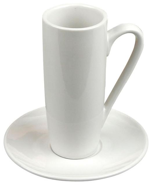 Shop Houzz Konitz Latte Macchiato Cups And Saucers Set