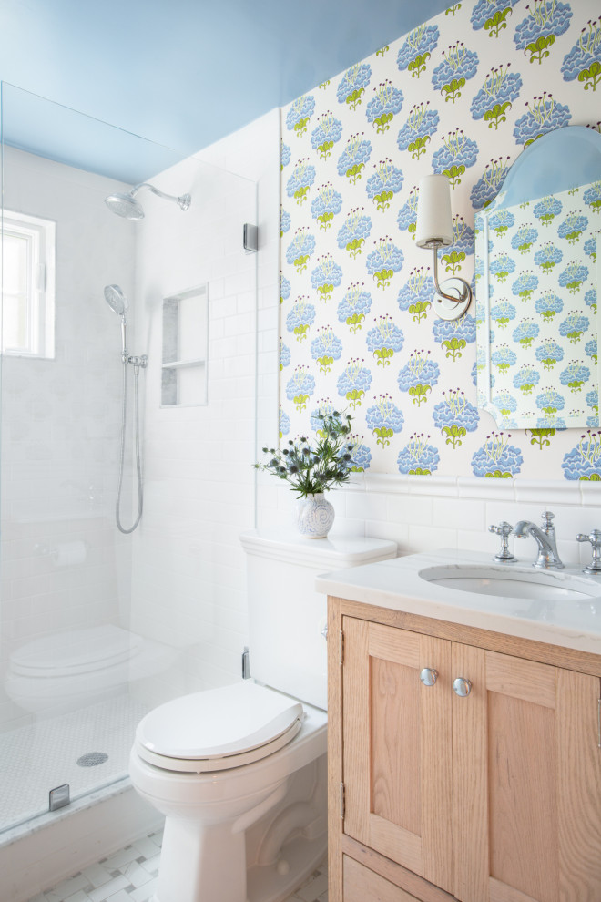 Inspiration for a transitional home design remodel in Boston