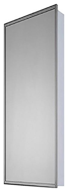 """Medicine Cabinet, 18""""x52"""", Bright Annealed Stainless Steel Frame"""