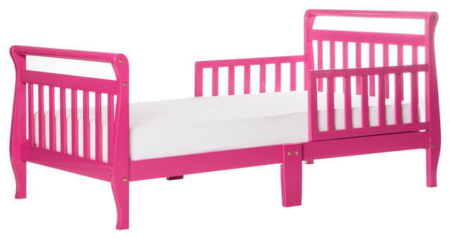Dream On Me, Sleigh Toddler Bed, Fuschia Pink