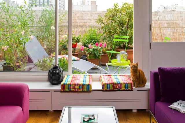 Loft Paris - 70m2 contemporary-balcony