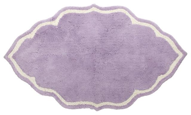 John Robshaw Lavender Shaped Bath Mat Midcentury Mats