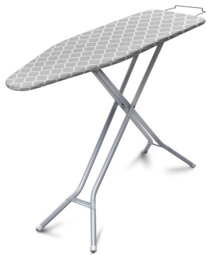 Homz 4740008 Ironing Board With Iron Rest, Gray And White.