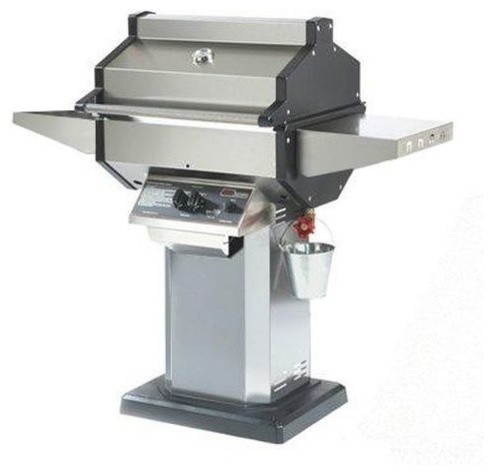 Phoenix Stainless Steel Grill Head On Aluminum Patio Base, Natural Gas.