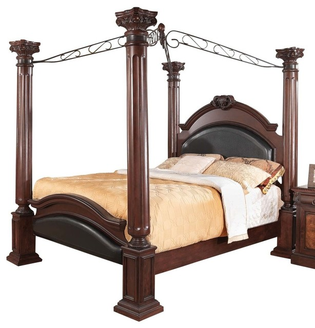 four poster bedroom furniture. Coaster Grand Prado King Poster Bed, Brown Cherry Four Bedroom Furniture