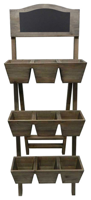 3 tier outdoor wooden plant stand traditional planter hardware and accessories by pier surplus. Black Bedroom Furniture Sets. Home Design Ideas
