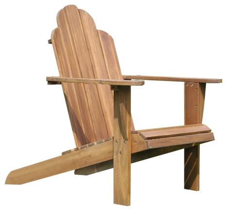 Linon Home Decor Products   Acacia Wood Adirondack Chair, Teak   Adirondack  Chairs