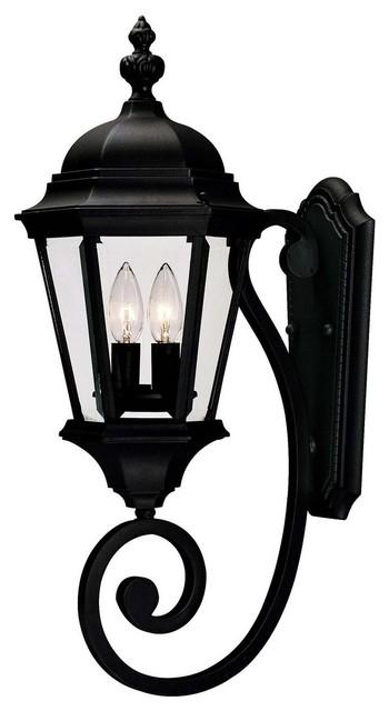 Savoy House Wakefield 2-Light Outdoor Wall Lantern, Textured Black