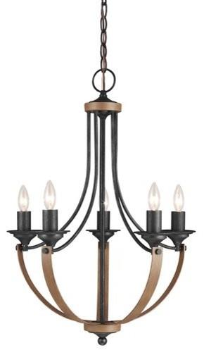 Sea Gull Lighting 3280405 Corbeille 5 Light 1 Tier Chandelier