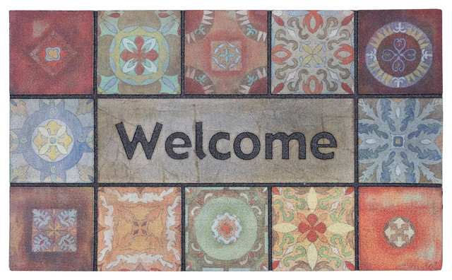 """Mohawk Home Doorscapes Mat Gypsy Wall Welcome, 1&x27; 6""""x2&x27; 6""""."""