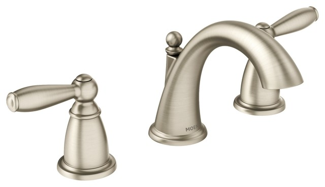 Moen Brantford 2-Handle High Arc Bathroom Faucet, Brushed Nickel.