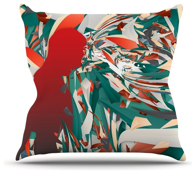 Modern Teal Decorative Throw Pillow : Danny Ivan