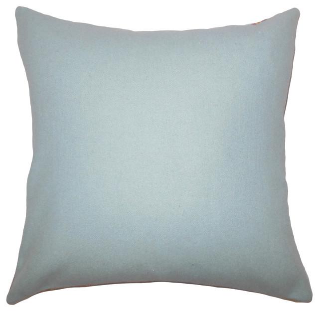Yandel Solid Bedding Sham Blue Euro Sham 26 X26