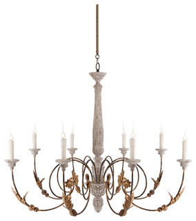 French country chandeliers houzz pauline large french country 8 light curled iron arm chandelier chandeliers aloadofball Gallery