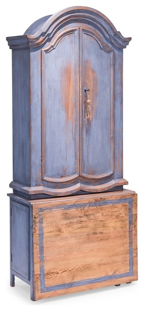 Blue Dress Writing Cabinet.