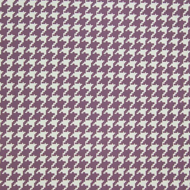 Grape Purple Check Houndstooth Geometric Jacquard Upholstery Fabric
