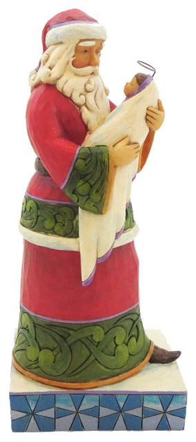 Jim Shore Behold The Greatest Christmas Stone Resin Santa Baby Jesus 4025845.