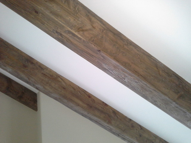 Weathered Wood Ceiling Beams - Traditional - Minneapolis ...