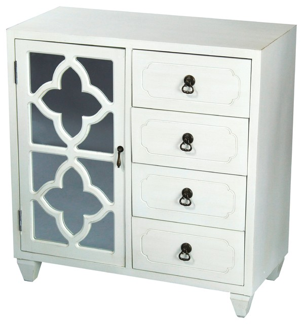 Quatrefoil Wood Cabinet - Contemporary - Accent Chests And Cabinets - by Heather Ann Creations