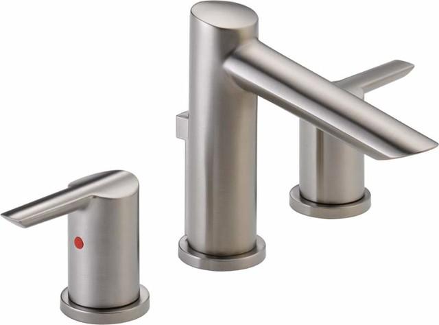 Delta 3561 mpu dst compel widespread bathroom faucet - Delta contemporary bathroom faucets ...