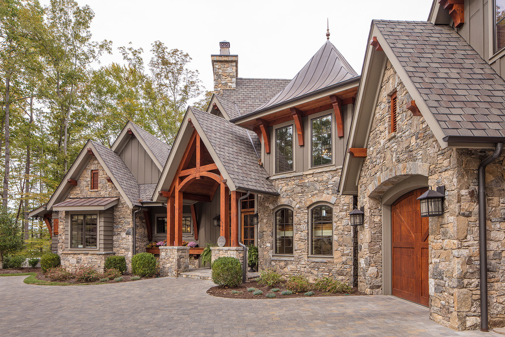 Inspiration for a rustic home design remodel in Other