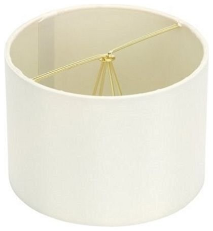 Retro Barrel 5 Drum Clip On Chandelier Lampshade Eggshell