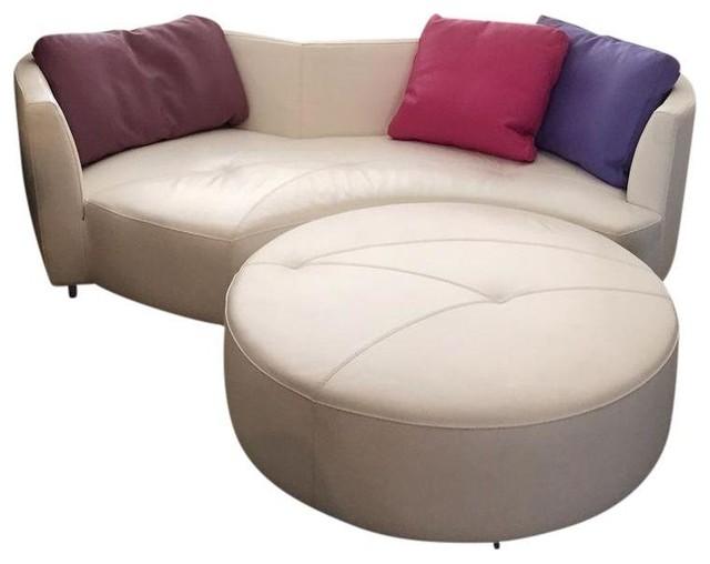 modern round sofa fabulous modern round sofa with modern. Black Bedroom Furniture Sets. Home Design Ideas