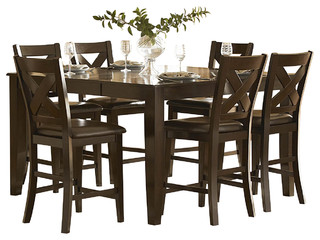 Homelegance Crown Point 7-Piece Counter Height Dining Room Set