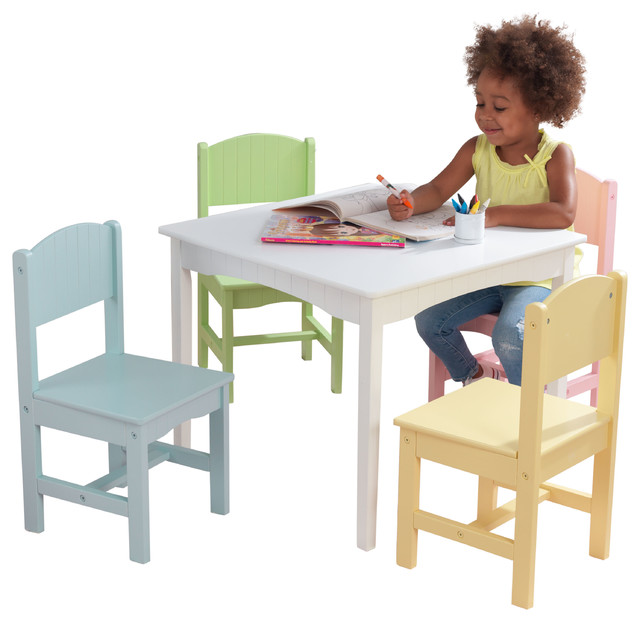 Superior KidKraft Nantucket Table And 4 Chair Set, Pastel