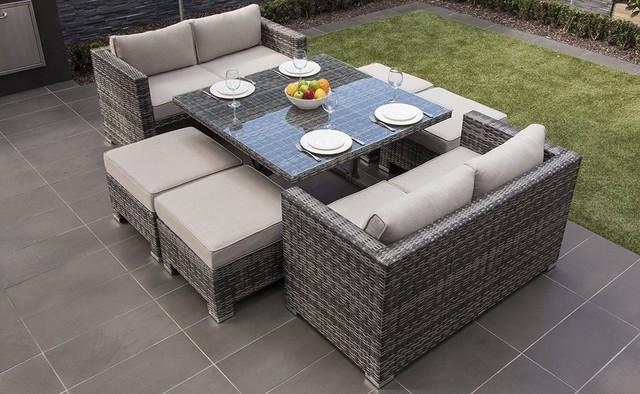 MODA Furnishings Mustique 4-8 Seat Sofa Dining Set
