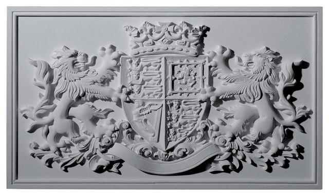 Hand carved Hardwood Applique onlay Lion Crest Emblem