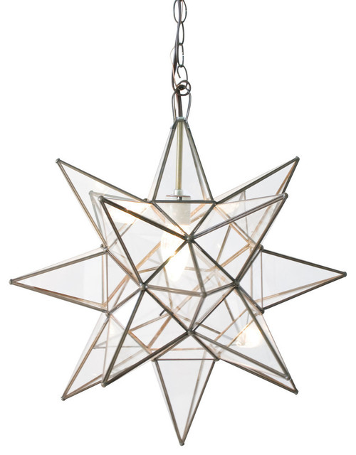Clear Star Chandelier Contemporary Chandeliers by Worlds Away – Star Chandeliers