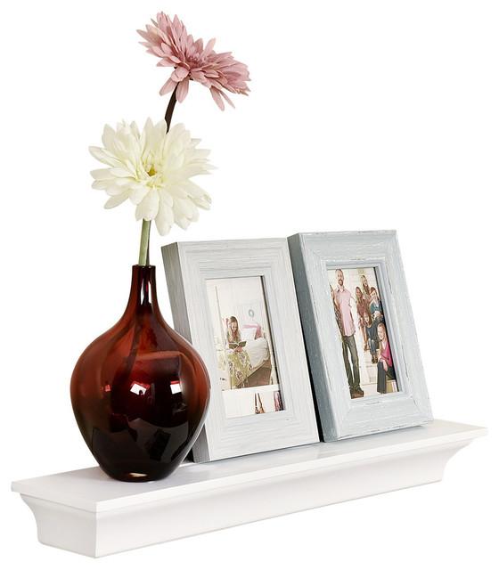 "Classic Crown Molding Wall Shelf, White, 24"""