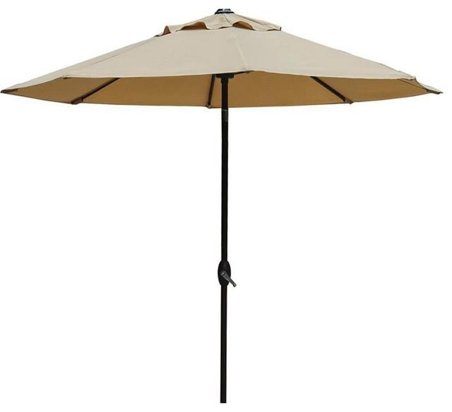 Market Outdoor Umbrella, Beige Contemporary Outdoor Umbrellas