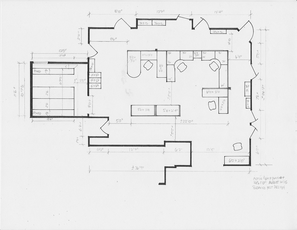 commercial space plan- accounting firm administration workspace