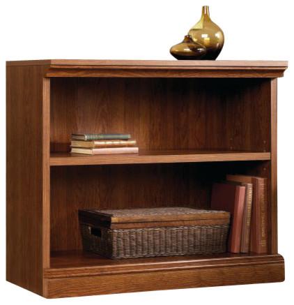 Sauder Camden County 2-Shelf Bookcase In Planked Cherry.
