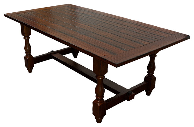 Hoover Walnut Color Dining Table Transitional Dining Sets